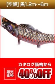 【空鯉】黒1.2m〜6m