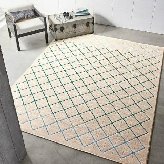 幾何学模様のラグ レガート