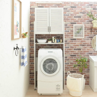 洗濯機上のデッドスペースを有効活用!DOLLY (ドリー)洗濯機ラック