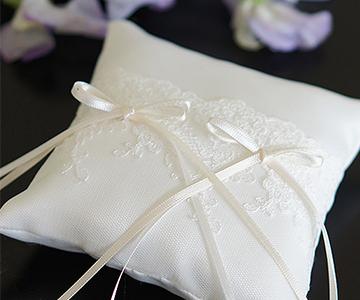 リングピロー〔ジュリア〕手作りキット|清楚なイメージのリングピローです|結婚式演出の手作りアイテム専門店B.G.