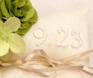 刺繍イニシャルレース|アレンジ例|結婚式演出の手作りアイテム専門店B.G.