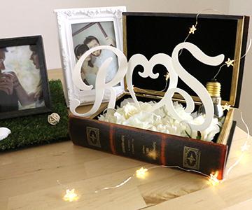 イニシャルカード |使用例|結婚式演出の手作りアイテム専門店B.G.