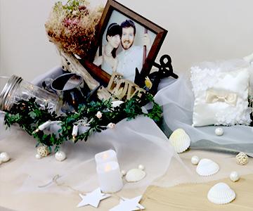 貝殻モチーフ|使用参考例|結婚式演出の手作りアイテム専門店B.G.