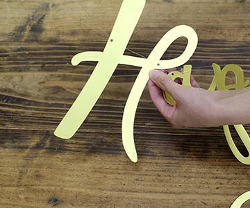 ペーパーバナー〔Happy Wedding〕|テグス|結婚式演出の手作りアイテム専門店B.G.