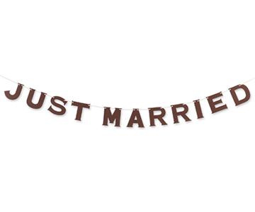ペーパーガーランド〔ブラウン〕|JUSTMARRIED|結婚式演出の手作りアイテム専門店B.G.