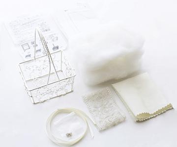 リングピロー〔ルミナスバスケット〕手作りキット|キット内容説明書付き|結婚式演出の手作りアイテム専門店B.G.