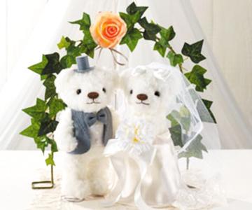 アーチ&スタンド〔アイボリー〕手作りキット アーチ&スタンドの使用例 結婚式演出の手作りアイテム専門店B.G.