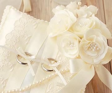 リングピロー〔モッコウバラ〕手作りキット|花束のようなモッコウバラのモチーフ|結婚式演出の手作りアイテム専門店B.G.