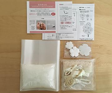 リングピロー〔モッコウバラ〕手作りキット|キット内容|結婚式演出の手作りアイテム専門店B.G.