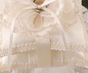 リングピロー〔ブーケレース〕手作りキット|ボリューミーなダブルのピロー|結婚式演出の手作りアイテム専門店B.G.