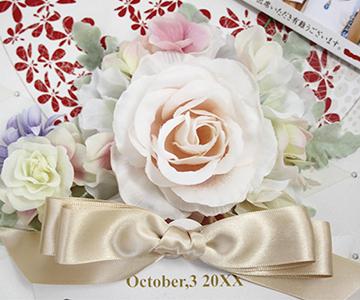ウェルカムボード〔ルリアン〕お仕立て券フラワーデザイナーが「ルリアン」をイメージして作りました|結婚式演出の手作りアイテム専門店B.G.