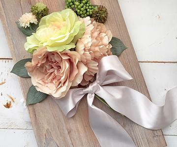 フラワーパーツ〔ナチュラルウエディング〕|ブーケスタイルのアレンジが素敵です|結婚式演出の手作りアイテム専門店B.G.