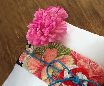 リングピロー〔水引モダン〕手作りキット|髪飾りのようなフラワーモチーフ|結婚式演出の手作りアイテム専門店B.G.
