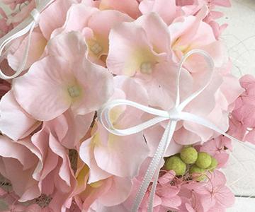 ウェルカムボード〔アジサイ・ピンク〕手作りキット リングのご使用方法 結婚式演出の手作りアイテム専門店B.G.
