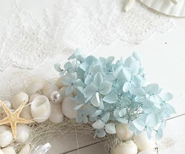 リングピロー〔貝殻リース〕完成品|リングのご使用方法|結婚式演出の手作りアイテム専門店B.G.