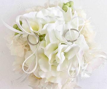 ウェルカムボード〔アジサイ・ホワイト〕手作りキット|リングのご使用方法|結婚式演出の手作りアイテム専門店B.G.