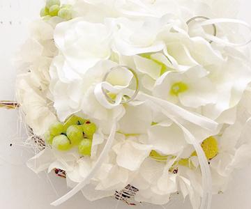 ウェルカムボード〔アジサイ・ホワイト〕手作りキット|まっ白なリングピロー|結婚式演出の手作りアイテム専門店B.G.