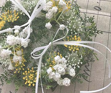 リングピロー〔野花〕完成品|落ち着いた雰囲気にも似合います|結婚式演出の手作りアイテム専門店B.G.