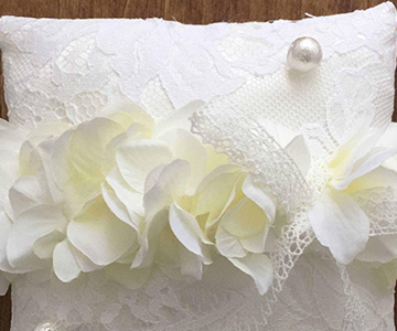 リングピロー〔ウェディング〕手作りキット ウェディングドレスのような装飾 結婚式演出の手作りアイテム専門店B.G.