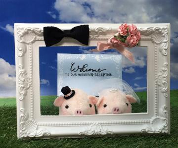 ウェルカムドール〔ミニミニぶーちゃん・ピンク〕手作りキット |装飾1|結婚式演出の手作りアイテム専門店B.G.