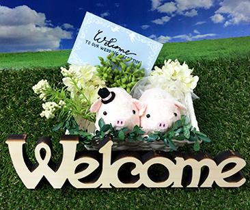 ウェルカムドール〔ミニミニぶーちゃん・ピンク〕手作りキット|装飾3|結婚式演出の手作りアイテム専門店B.G.