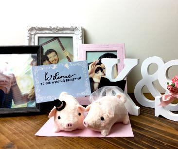 ウェルカムドール〔ミニミニぶーちゃん・ピンク〕手作りキット |装飾5|結婚式演出の手作りアイテム専門店B.G.