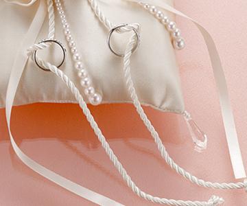 リングピロー〔モダン・シャンパンローズ〕手作りキット|より紐とパールがアクセント|結婚式演出の手作りアイテム専門店B.G.