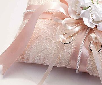 リングピロー〔ドラマティック・ホワイト〕手作りキット|レース基調のピロー|結婚式演出の手作りアイテム専門店B.G.