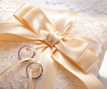 リングピロー〔ドラマティックリボン・シャンパン〕手作りキット|上品なシャンパンカラー|結婚式演出の手作りアイテム専門店B.G.