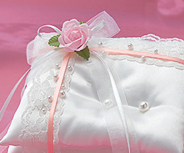 リングピロー〔エンジェルロイヤル・ピンク〕手作りキット|さりげなさがとってもかわいいピンクのアクセント|結婚式演出の手作りアイテム専門店B.G.