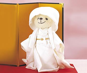 ウェルカムドール〔ベア和装立ちタイプ〕手作りキット 古風な綿帽子がかわいらしい花嫁ベアちゃん 結婚式演出の手作りアイテム専門店B.G.