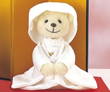 ウェルカムドール〔ベア和装〕手作りキット|笑顔が可愛らしい綿帽子の花嫁ベアちゃん|結婚式演出の手作りアイテム専門店B.G.