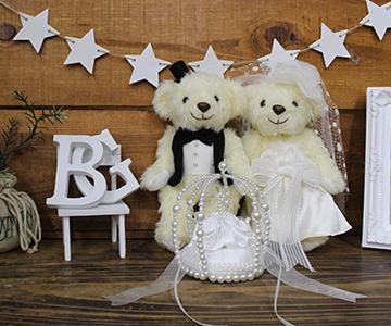 リングピロー〔エターナル巻きバラ・ホワイト〕手作りキット|ウェルカムスペースにも飾れますね|結婚式演出の手作りアイテム専門店B.G.