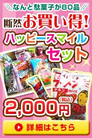 なんと駄菓子が80品!断然お買い得!ハッピースマイルセット 2000円!