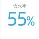 含水率55%